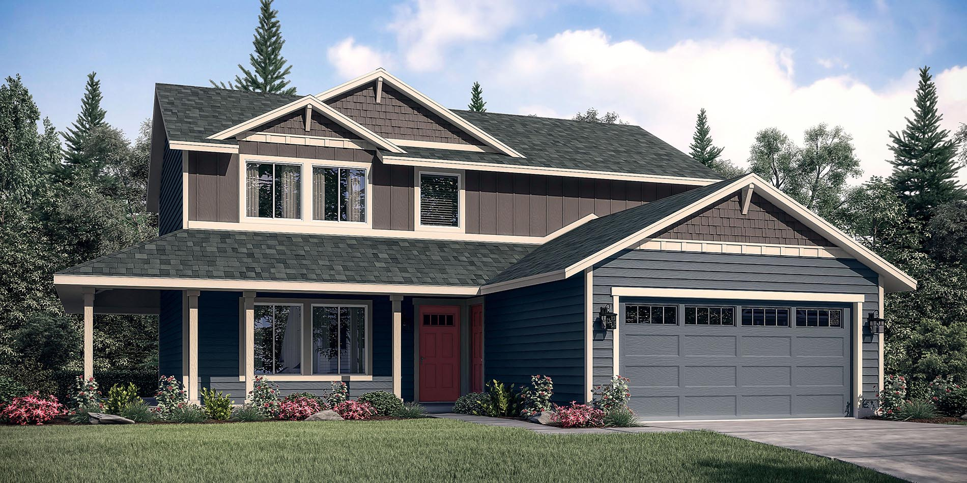 The gallatin custom home floor plan adair homes for Adair home plans