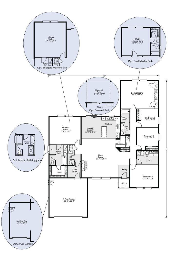 The st helens custom home floor plan adair homes for Website that allows you to design a room