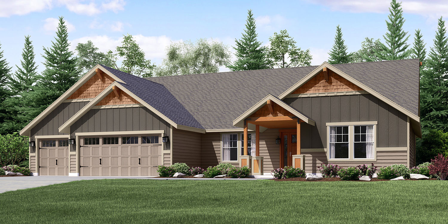 The mt hood custom home floor plan adair homes for Value house plans