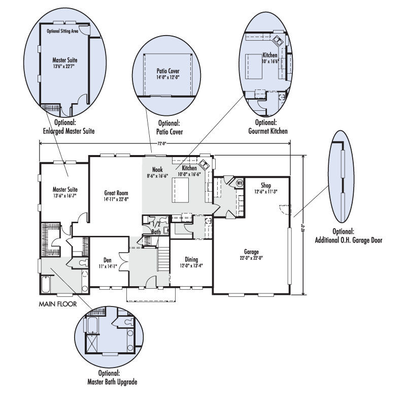 The Mt Rainier Custom Home Floor Plan Adair Homes 23